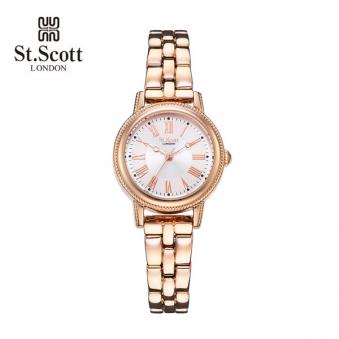 [국내최저가] [세인트스코트] 포슬린 여성 메탈 시계 ST7008RRR (업체별도 무료배송)