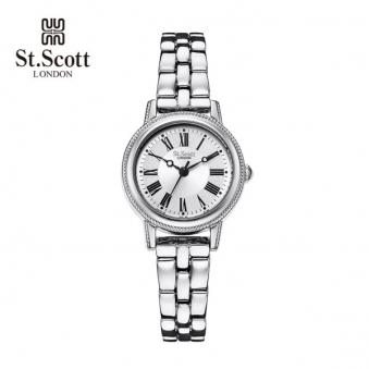 [국내최저가] [세인트스코트] 포슬린 여성 메탈 시계 ST7008SSS (업체별도 무료배송)