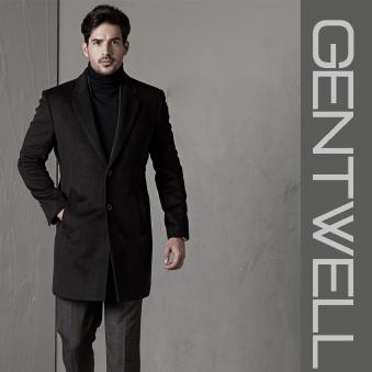 [GENTWELL] 젠트웰 모던 클래식 퀼팅안감 울코트 블랙 (업체별도 무료배송)