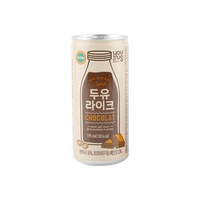 [편의점상품] 두유라이크 초콜릿 195ml*30입 (업체별도 무료배송)