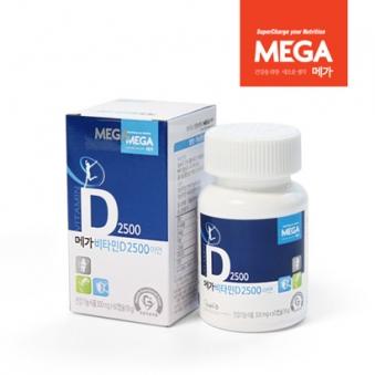 [메가] 비타민D 2500 아연 300mg x 60캡슐 (2개월분) (업체별도 무료배송)