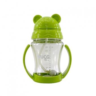 UCG베이비 유아용 쥬스컵(빨대컵) 그린 + 곰돌이 캡 증정 (업체별도 무료배송)