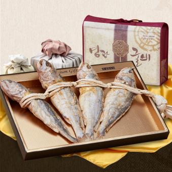 울금 보리굴비 선물세트 25cm x 4마리 + 부직포가방 (업체별도 무료배송)