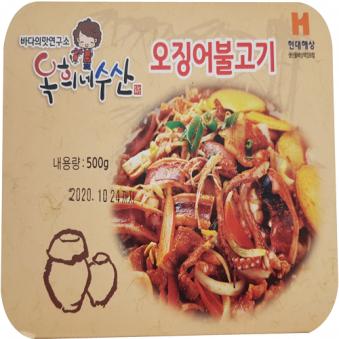 오징어돼지불백 500g x 4개 (업체별도 무료배송)