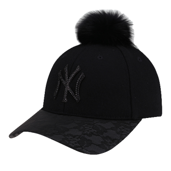 [MLB키즈] 패밀리스타일 크리스탈 폭스 폼폼이 CAP(블랙/블루) (업체별도 무료배송)