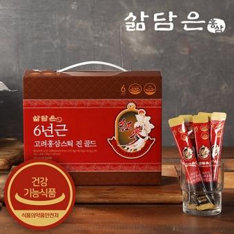 [삶담은홍삼] 6년근 고려홍삼 스틱진골드 12g x 60개입 (업체별도 무료배송)