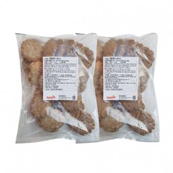 [재입고] 정통 함박스테이크 1.2kg(60g*20입) x 2봉 (업체별도 무료배송)