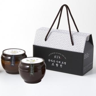 [Sweet jeju] 전통방식 수제 한라산 도라지500g+생강500g 조청세트 (업체별도 무료배송)