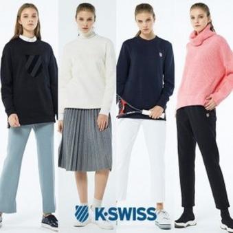 [K-SWISS] 케이스위스 여성 기모 맨투맨/트레이닝 팬츠 4종 택1 (업체별도 무료배송)