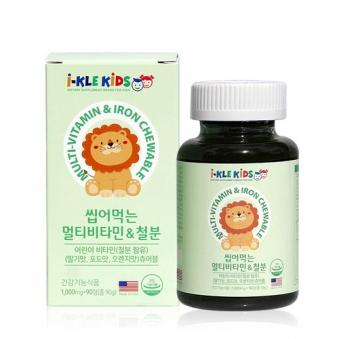 씹어먹는 츄어블 영양제 (멀티비타민&철분) 1000mg*90정 (업체별도 무료배송)