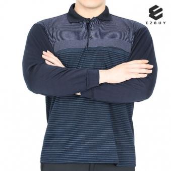 [EZBUY] 댄디무브 남성 신축성좋은 스트라이프 카라 티셔츠(I93LT016M) 2종 택1 (업체별도 무료배송)