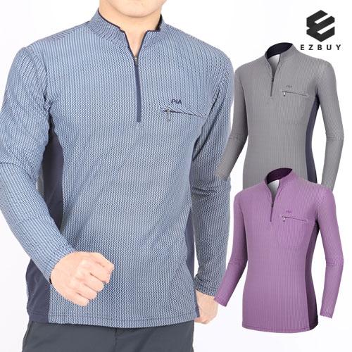 [EZBUY] 클래식헤링본 남성 긴팔 집업 티셔츠(P92LT015M) (업체별도 무료배송)