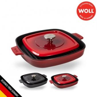 [독일 WOLL] 아이언 무쇠주물 사각그릴 28cm (색상선택) (업체별도 무료배송)