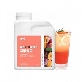 [냉장] 각종음료 제조용 맘스리얼베이스 자두살구 1kg (업체별도 무료배송)