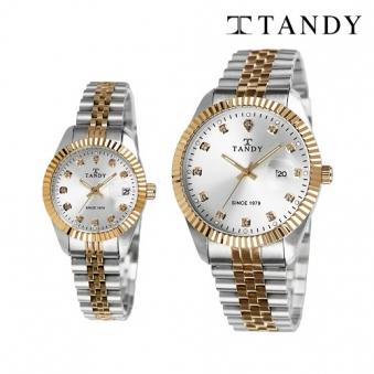 [탠디] 럭셔리 커플 메탈 손목시계(스와로브스키 식입) T-3909 (여성, 남성 택1 / 색상 선택) (업체별도 무료배송)