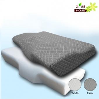 [1+1] [굿앤홈] 3D 경추 목편한 메모리폼 베개+겉커버 (업체별도 무료배송)