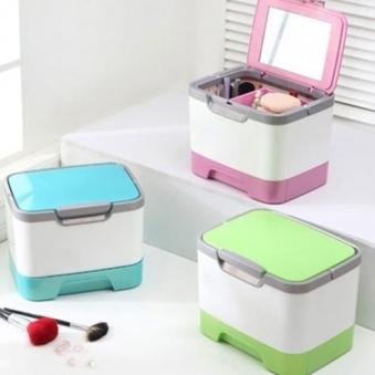 큐브메이크업박스(휴대용) 핑크 (업체별도 무료배송)