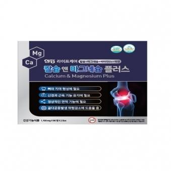 [건강백서] 일동라이프케어 칼슘&마그네슘 플러스 1,100mg * 90캡슐 X 2입