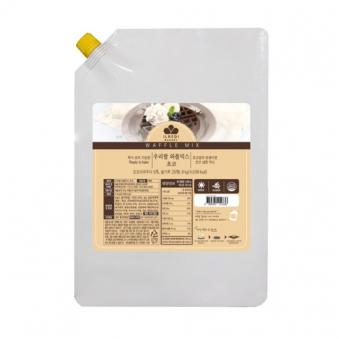 [냉장] 우리쌀 와플믹스 초코 반죽 액상 1.8kg (업체별도 무료배송)