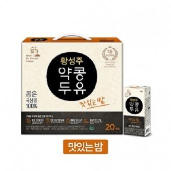 [떠리데이-무료배송관] [이롬] 황성주 약콩두유 맛있는밤 190ml*20개 x 2박스 (업체별도 무료배송)