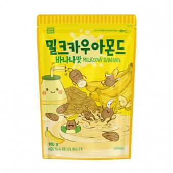 [1+1] [나라통상] 밀크카우 아몬드 바나나맛 180g (업체별도 무료배송)