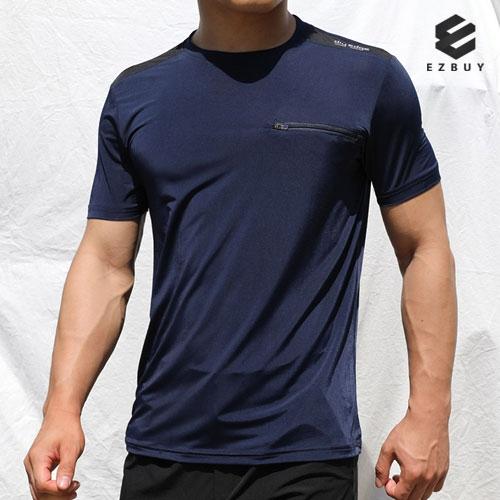 [EZBUY] 샤인터치 남성 시원한 스트라이프 반팔 라운드 티셔츠(AJ91ST021M) (업체별도 무료배송)