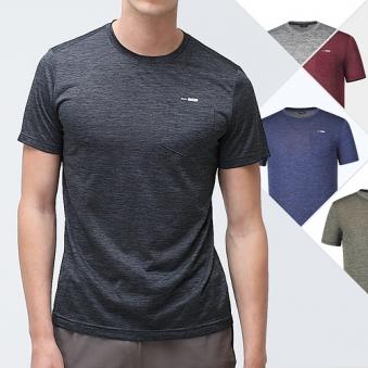 [재입고] [스카이패션] 남성 쿨 기능성 포켓 멜란지 반팔 티셔츠(B19T103) (업체별도 무료배송)