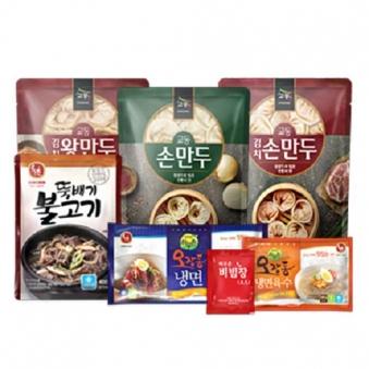 [핫딜] [하우촌] 오장동냉면 4인분(물2+비빔2) + 김치왕만두 1.4kg (업체별도 무료배송)