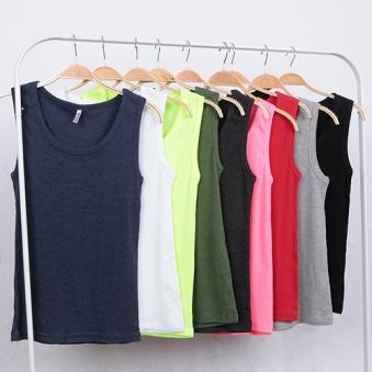 [미스티그레이] 남녀공용 기본 골지 민소매 티셔츠 (2장이상 구매가능) (업체별도 무료배송)