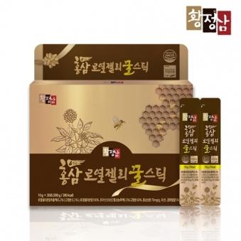 [황정삼] 홍삼 로열젤리꿀스틱 10g*30포입 (추가옵션구성) (업체별도 무료배송)