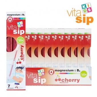 [다다익선] [비타십] 키즈비타민 비타민빨대 체리 5.2g*7개x10박스 (업체별도 무료배송)