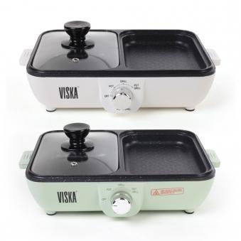 [비스카] 2 in 1 미니 전기그릴 VK-Z4000 (업체별도 무료배송)