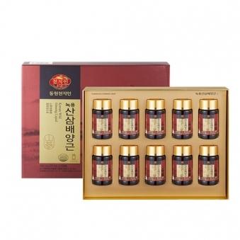 [동원천지인] 녹용산삼배양근 75ml*10병 + 쇼핑백증정 (업체별도 무료배송)