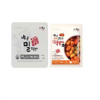 [아딸] 밀떡 300g*10입 + 토마토고추장 떡볶이소스 100g*10입 (업체별도 무료배송)