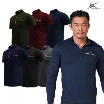 [코몽트] 기능성 골프 반집업 반팔 티셔츠 KMT19912 6종 택1 (업체별도 무료배송)