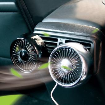 [힐링타임] 2way 차량용 LED 에어 써큘레이터 (색상랜덤) (업체별도 무료배송)