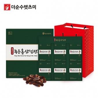 플래티넘 녹용홍삼절편 20g*6개 X 1박스 + 쇼핑백 증정 (업체별도 무료배송)