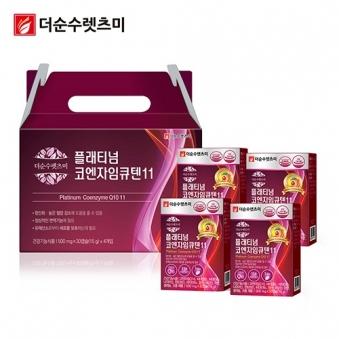 플래티넘 코엔자임Q10(코큐텐) 500mg*30캡슐 X 4박스(4개월분) (업체별도 무료배송)