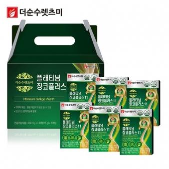 플래티넘 징코 플러스 500mg*30정 X 6박스(6개월분) (업체별도 무료배송)