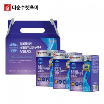플래티넘 루테인지아잔틴 오메가3 1,050mg*30캡슐 X 3박스(3개월분) (업체별도 무료배송)