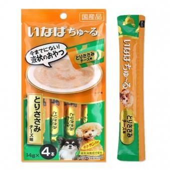 이나바 강아지츄르 닭가슴살치즈 14g*4p x 7개 (업체별도 무료배송)