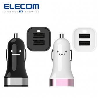 [엘레컴] 2포트 3.1A 차량용 고속 충전기 - 실버 EK-CC315SV (업체별도 무료배송)
