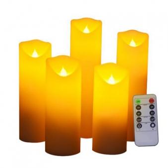 [머레이] 양초 LED 5개 세트 (리모콘포함) (업체별도 무료배송)