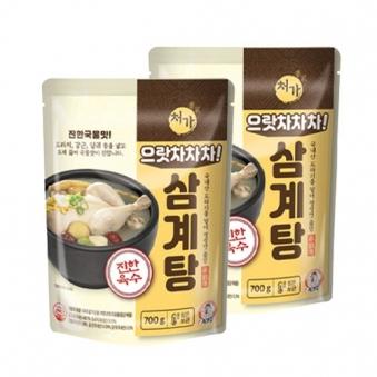 으랏차차차 삼계탕 700g X 2봉 (업체별도 무료배송)