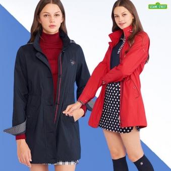 [홈쇼핑상품] [세서미스트리트] 골프 여성 퍼펙트 라운딩 트렌치코트 2종 택1 (업체별도 무료배송)