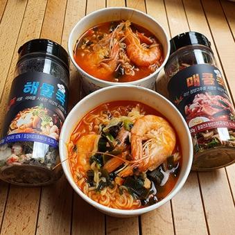 간단한 캠핑요리와 음식에 해물쿡/매콤쿡 100gx1통 (옵션선택) (업체별도 무료배송)