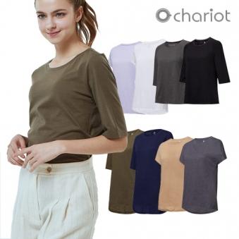 [홈쇼핑상품] [채리어트] 여성 데일리 에센셜 티셔츠 8종세트 (업체별도 무료배송)