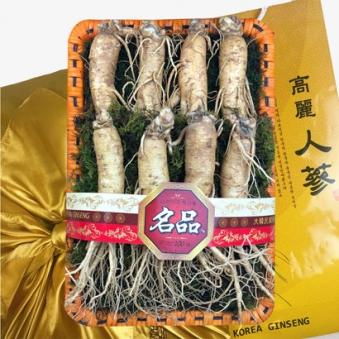 국내산 6년근 원수삼 인삼채반 선물세트(특대) 원수삼8뿌리 (750g 내외)+ 채반 + 황금보자기 (업체별도 무료배송)