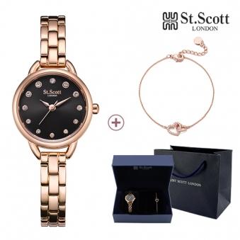 [St.Scott] 세인트스코트 ST7019 여성메탈 베일리 시계 팔찌 세트 2종 택1 (업체별도 무료배송)