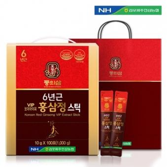 [농협] 동의삼 6년근 VIP 홍삼정스틱 10g*100포 + 쇼핑백 포함 (업체별도 무료배송)